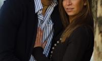 Dmitrij e Giulia figura intera negli scatti fatti a Torino
